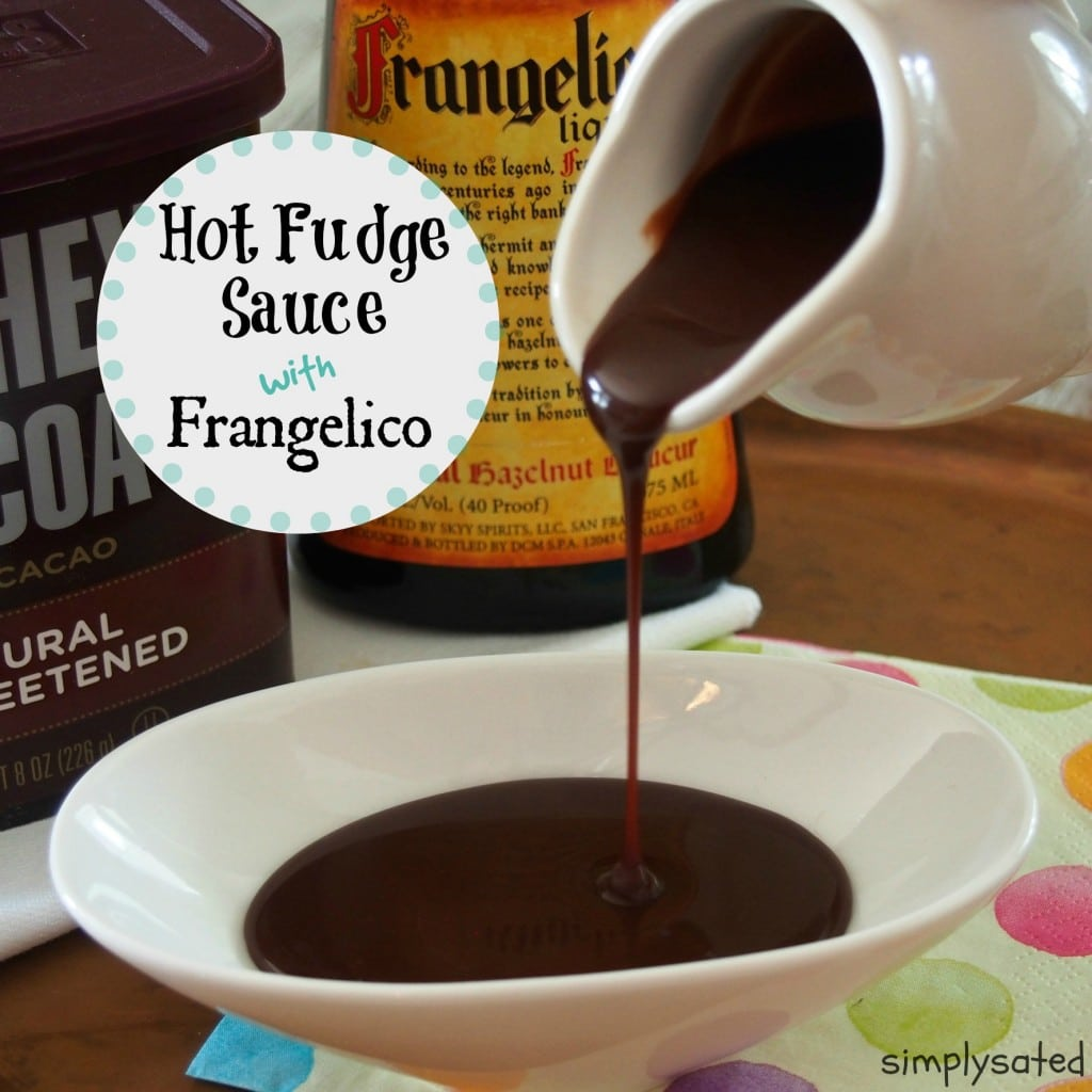 Homemade Hot Fudge with Frangelico - www.simplysated.com