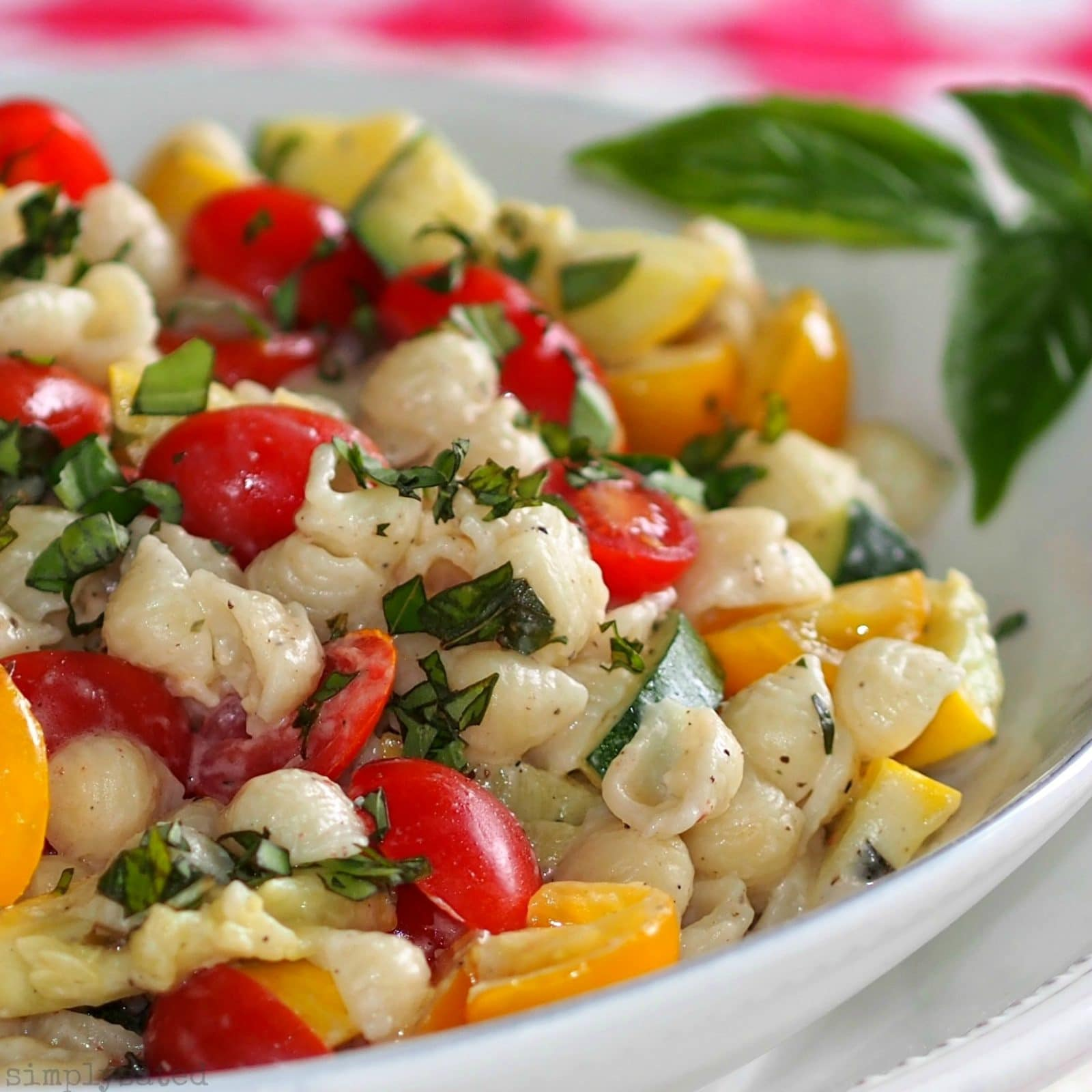 Summer Pasta Salad with Boursin - Simply Sated