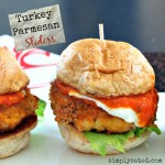 Turkey Parmesan Sliders, the perfect healthy sandwich! SO good! - www.simplysated.com