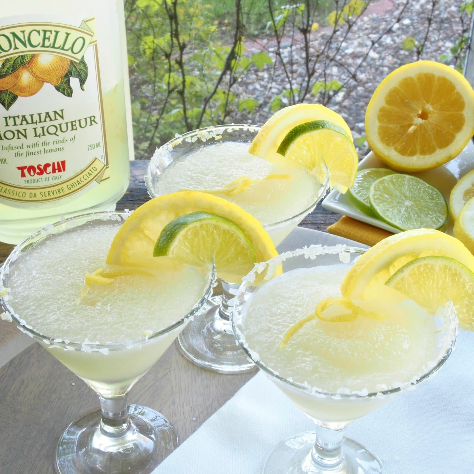 Limoncello Margarita is sweet, sour, light & refreshing. Limoncello, lime, Triple Sec & Tequila. Add a touch of sweetness and you have a glass of pure sunshine.