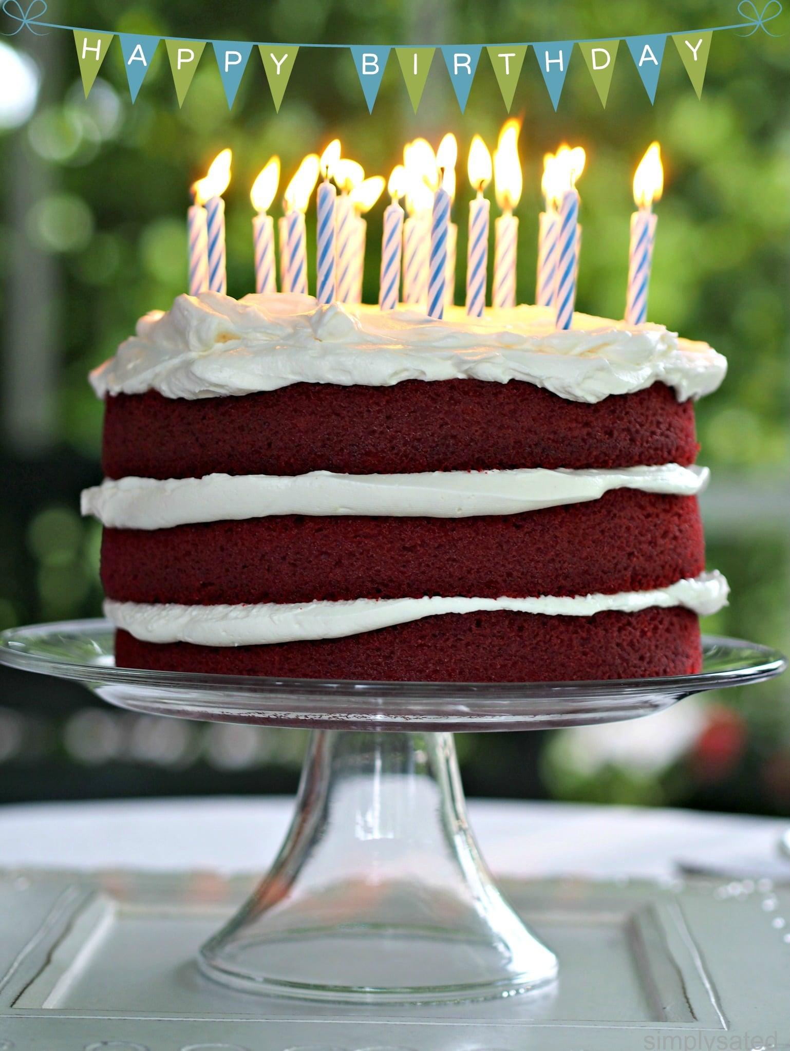 Happy Birthday Wish Red Velvet Cake