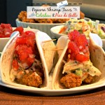 Popcorn Shrimp Tacos with Coleslaw & Pico de Gallo is packed with flavor and textures. A dish you will make again and again.