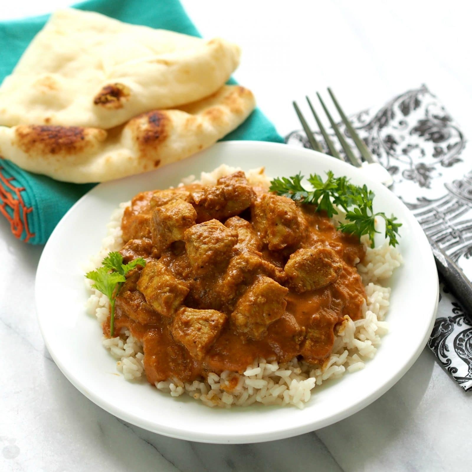 Chicken Tikka Masala - a delicious blend of tender chicken and Indian spices - easy & scrumptious. www.simplysated.com