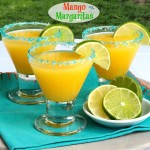 Mango Margaritas - a refreshing margarita made with Del Monte sliced mangoes. www.simplysated.com