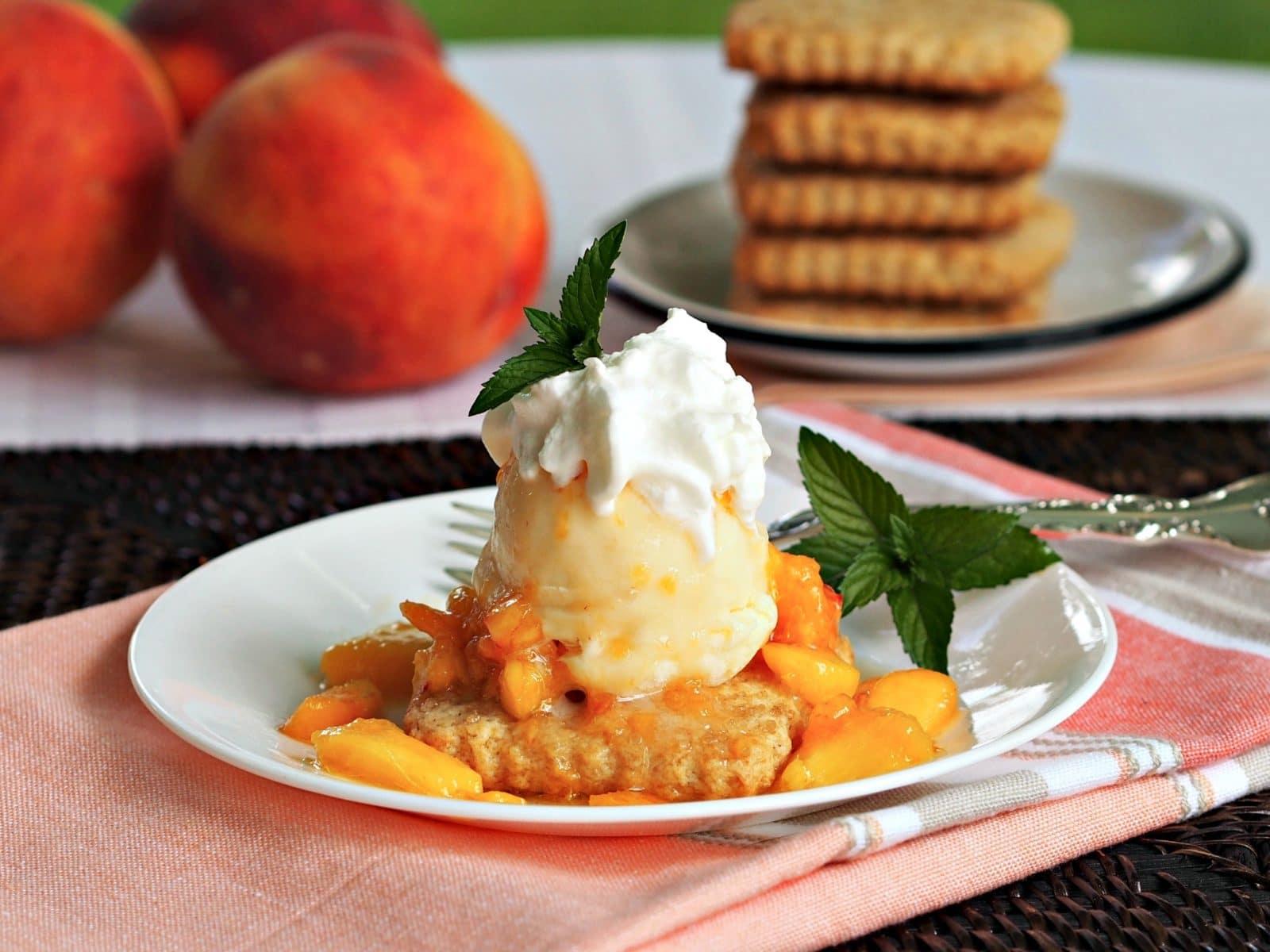 Peach Shortcake - Simply Sated