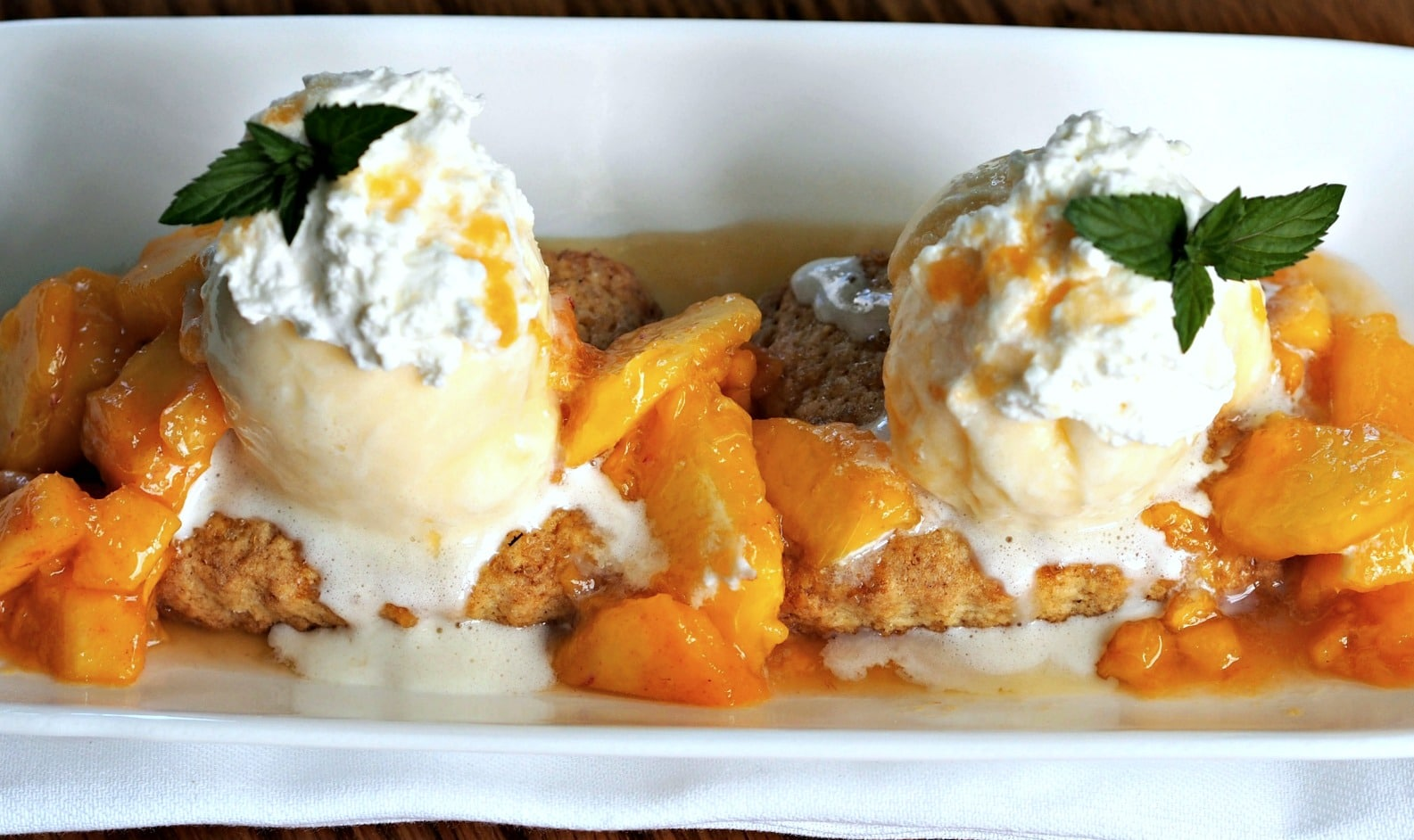 Peach Shortcake made with Simply Sated Perfect Shortcake will become favorite all-time recipe. www.simplysated.com