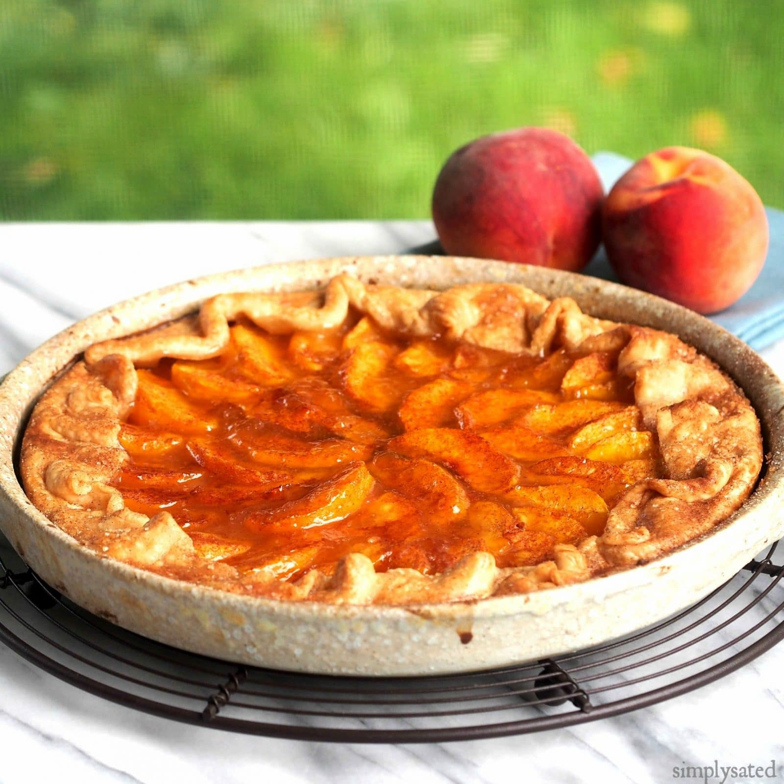 Rustic peach tart simply sated for Easy apple dessert recipes with few ingredients