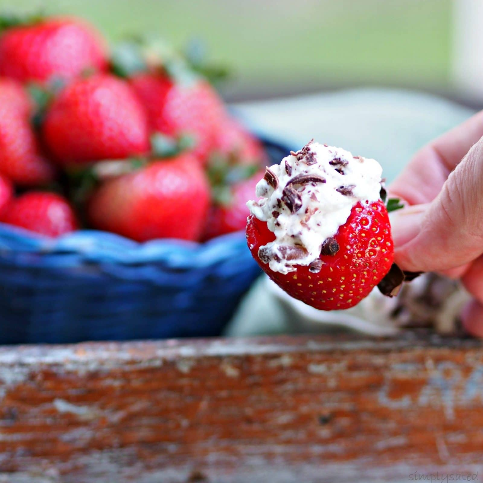 Strawberries & Cream with Chocolate is a beautiful and easy dessert or appetizer. simply sated