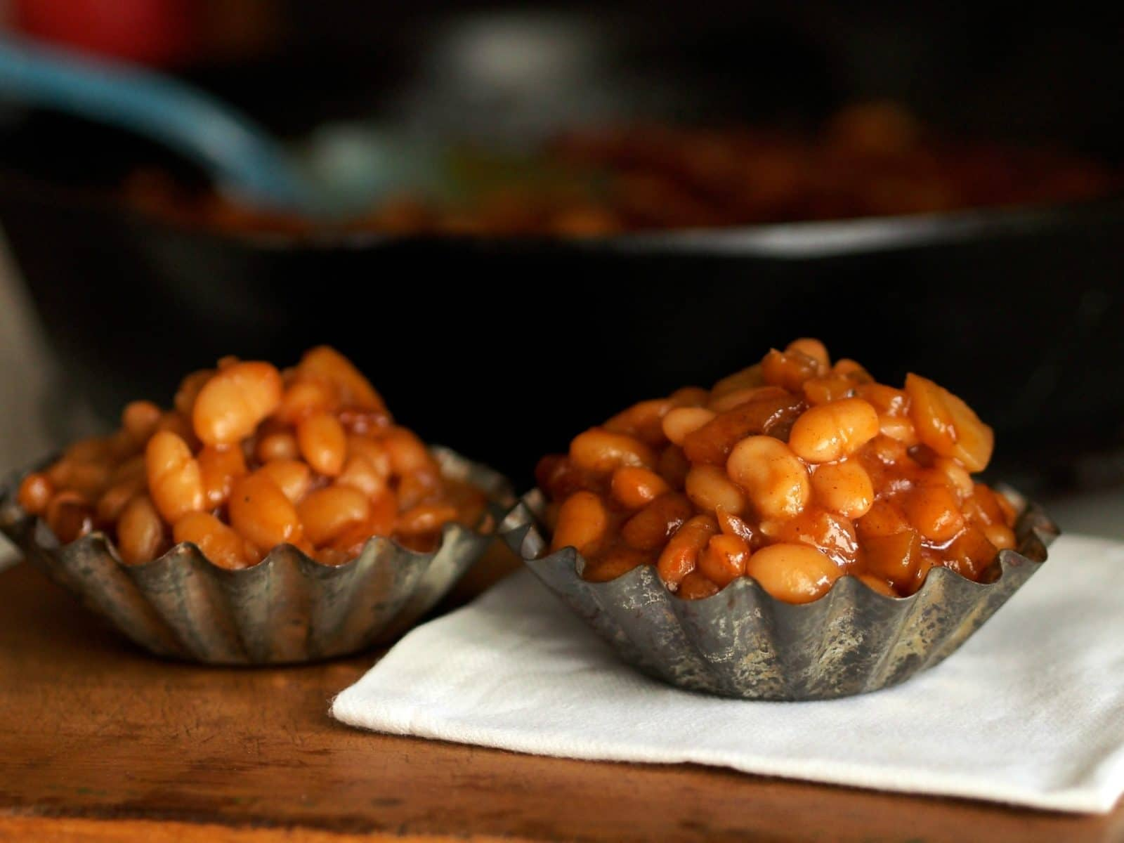 Apple Brown Sugar Baked Beans are one of the best two baked beans recipes - ever! simplysated