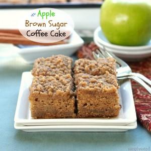 Apple Brown Sugar Coffee Cake - Simply Sated