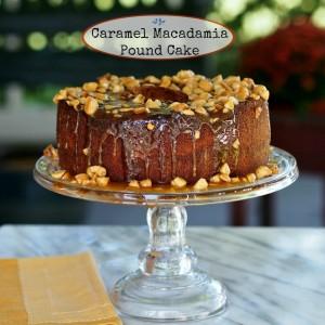 Caramel Macadamia Pound Cake