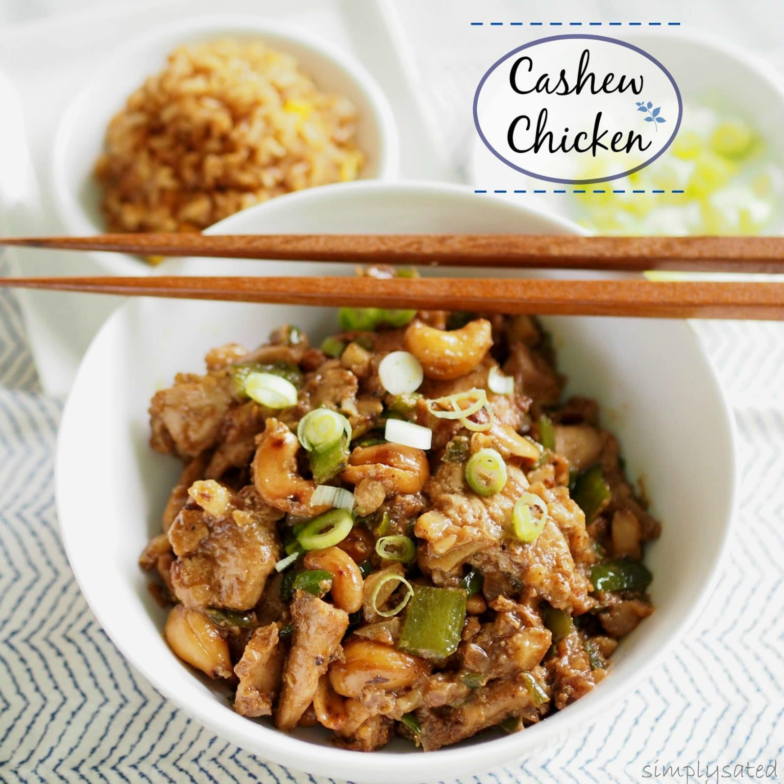 Cashew Chicken - make Chinese take-out your own by making it at home- easy and delicious! simply sated
