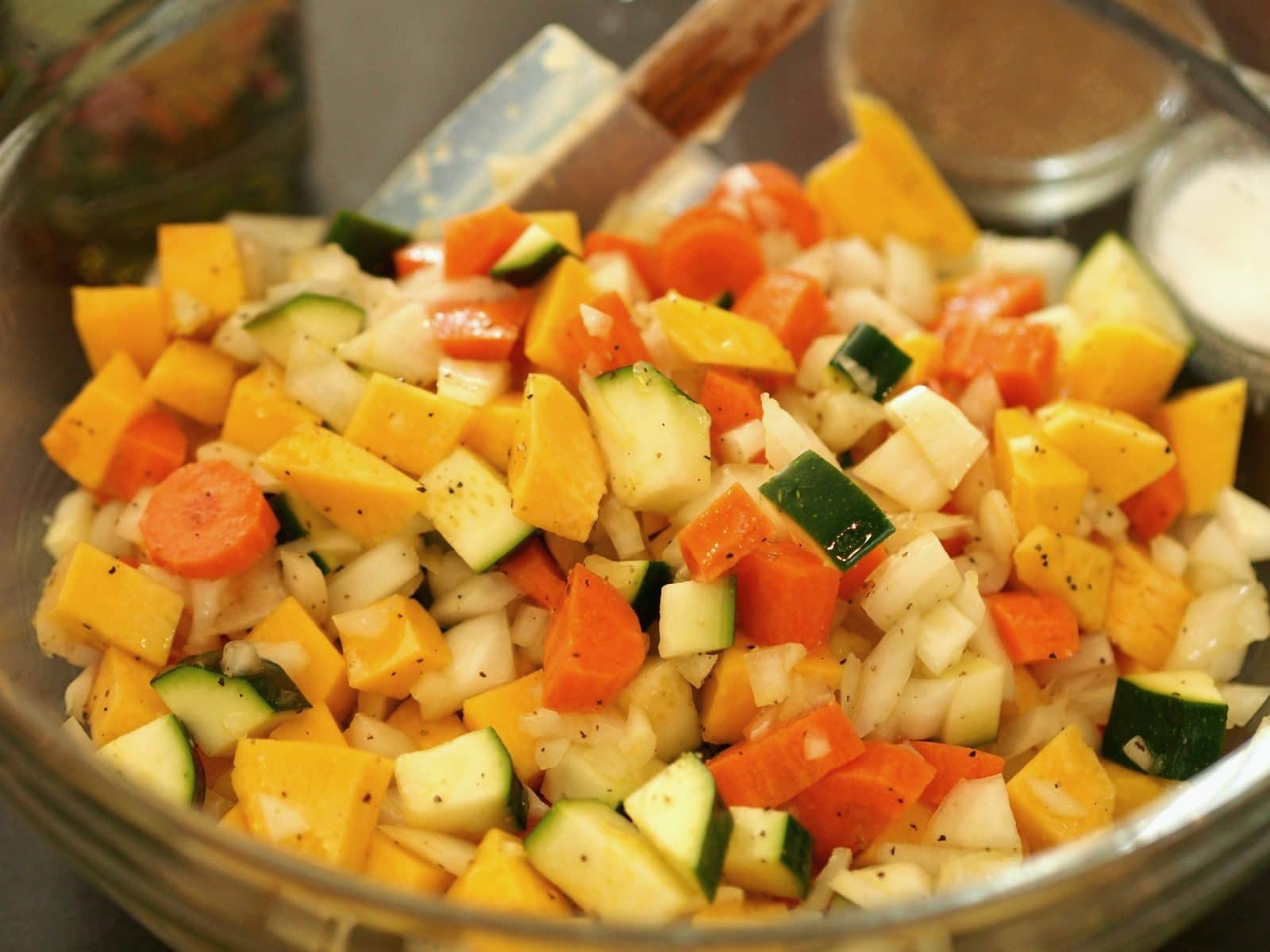 Moroccan Couscous is a delicious and colorful dish. Serve as a beautiful side or as a vegetarian meal. simply sated
