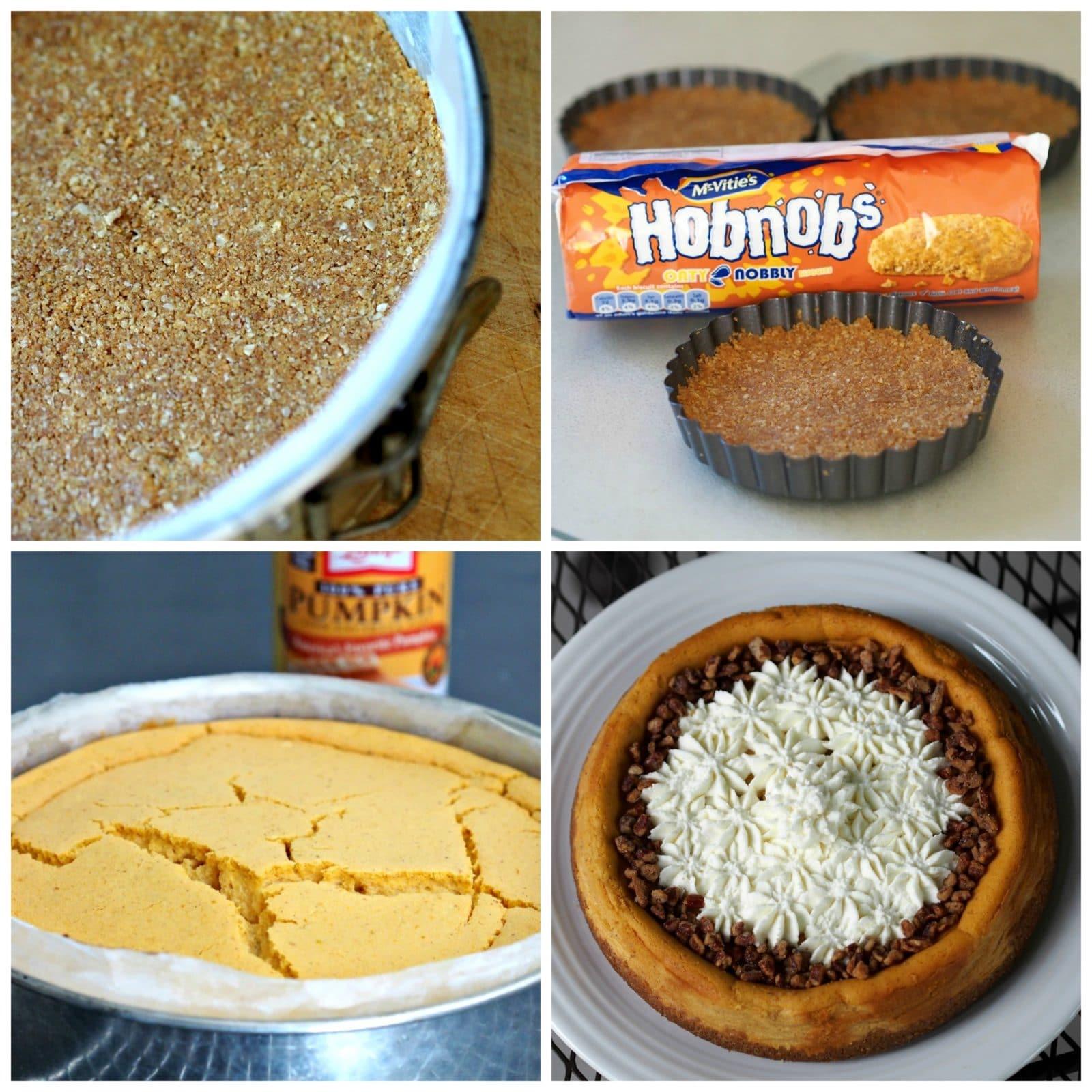 Pumpkin PIe Cheesecake - creamy pumpkin cheesecake topped with mascarpone whipped cream - YUM! simplysated