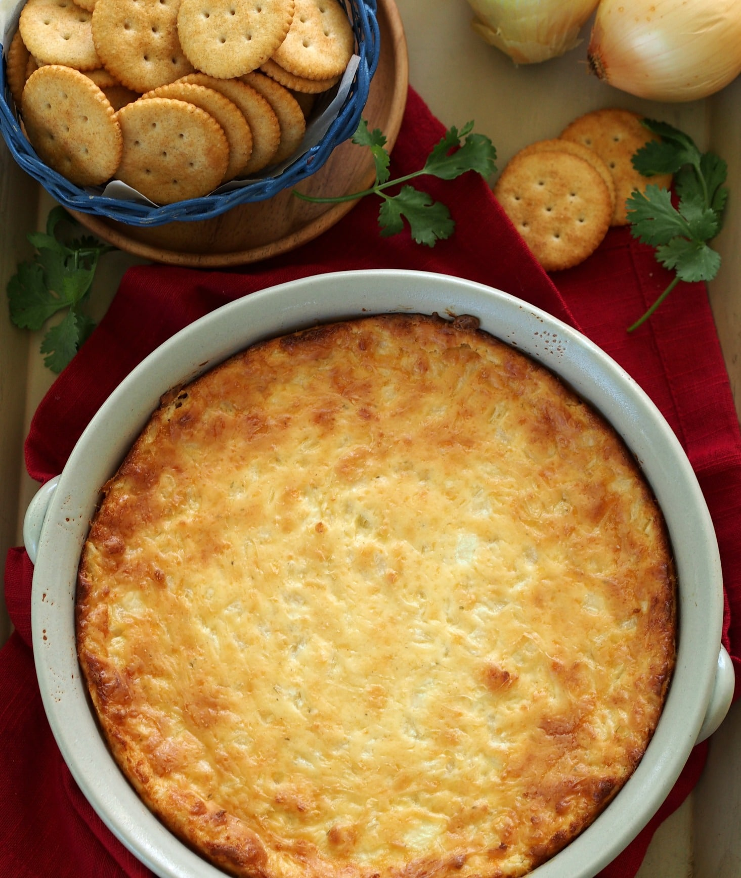 Hot Onion Dip with Boursin. The hot dip food gods decided to create the best dip ever, and this is the result.