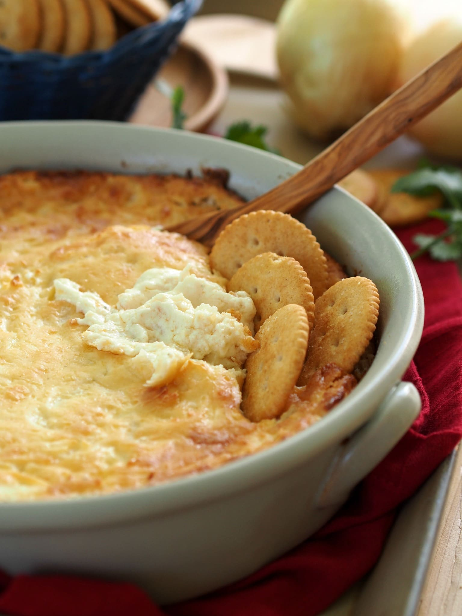 Hot Onion Dip with Boursin. The hot dip food gods decided to create the best dip ever, and this is the result. simplysated