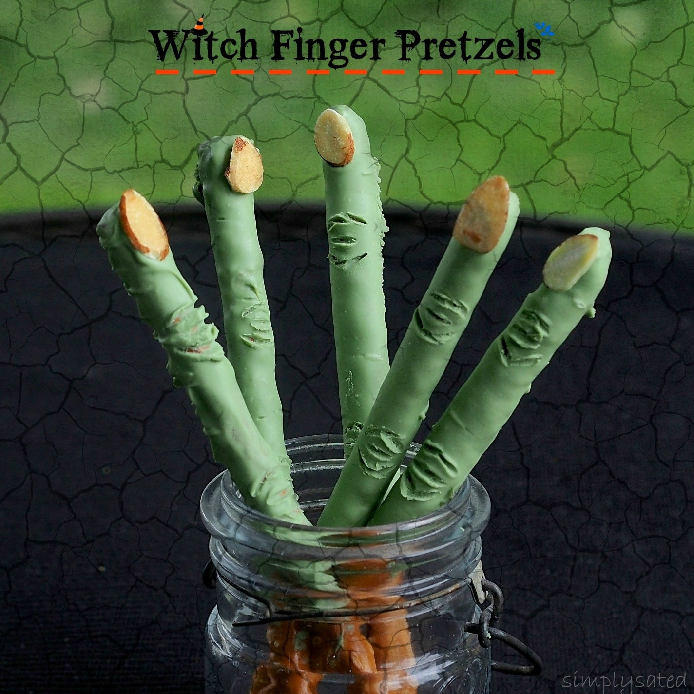 Witch Finger Pretzels - Simply Sated