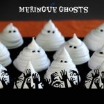 Meringue Ghosts - adorably scary Halloween dessert and/or cake and cupcake decorations. simplysated