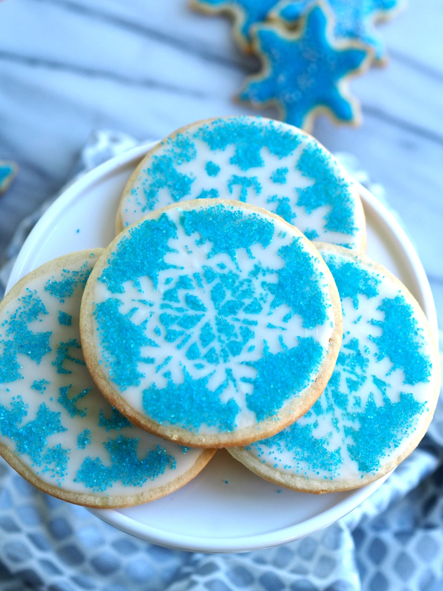 Snowflake Cookies - Using stencil ornaments, any decorated cookie can be turned into a work of art. simplysated
