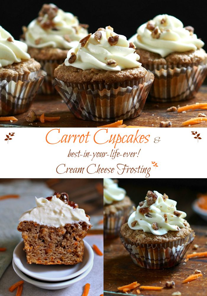 Carrot Cupcakes with Cream Cheese Frosting-fill your home with the cozy aroma of fall baking. Simply Sated