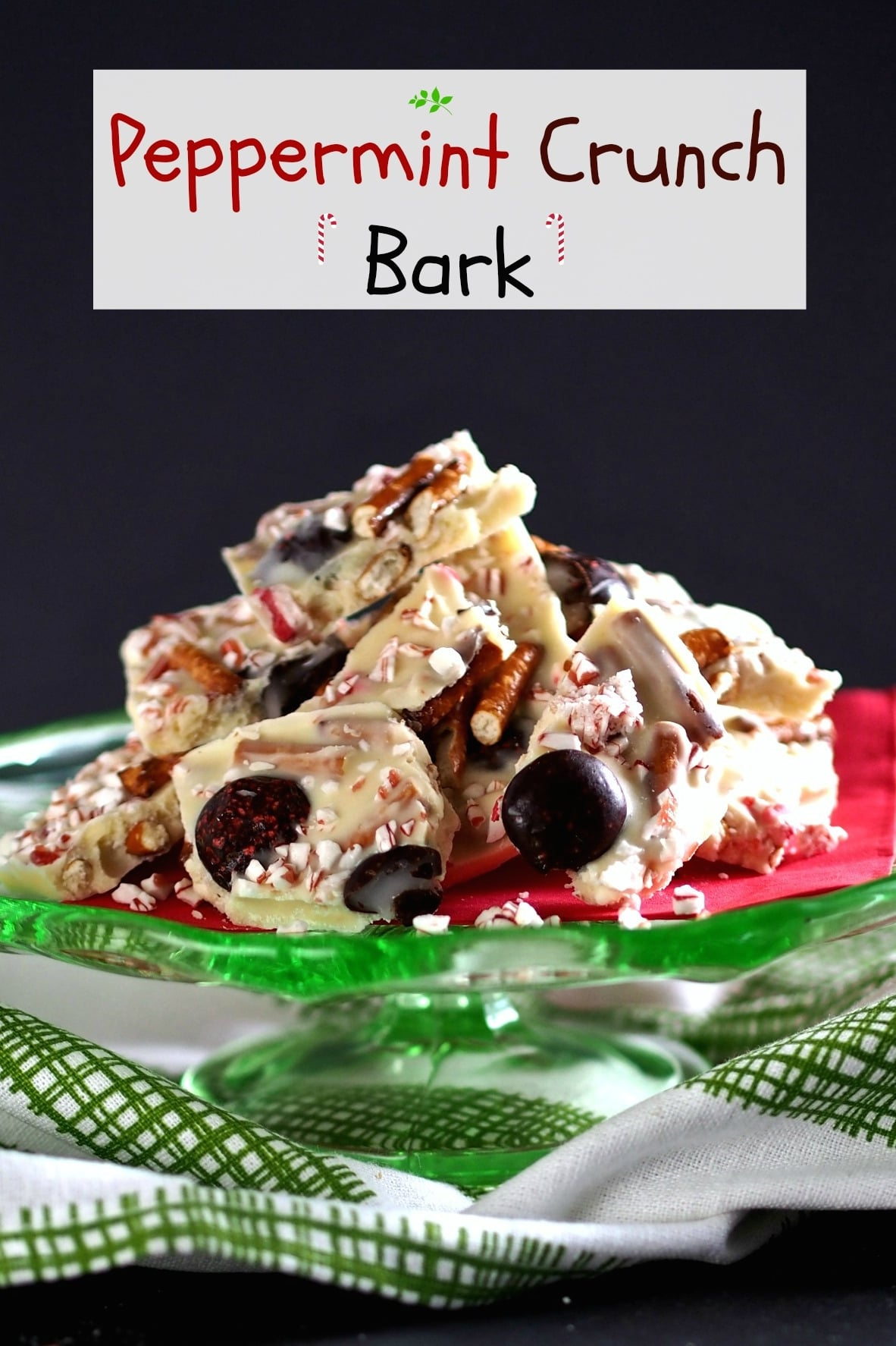 Crunch Bark or a party in a pan. White chocolate, Peppermint Crunch ...