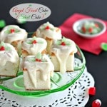 Angel Food Cake (Sheet Cake) - a fun way to serve a traditional dessert. Topped with a sensational lemon glaze that takes this cake to heavenly heights. Simply Sated