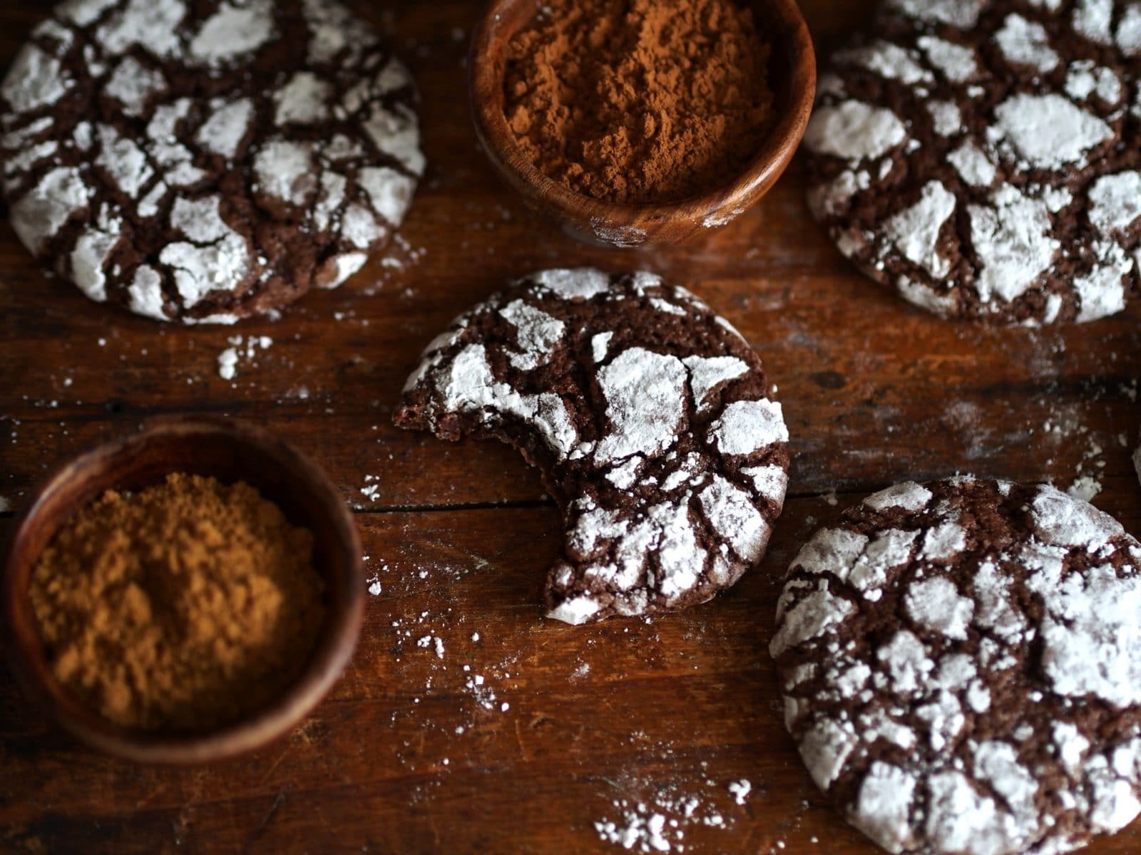 Mexican Chocolate Crinkles - Simply Sated