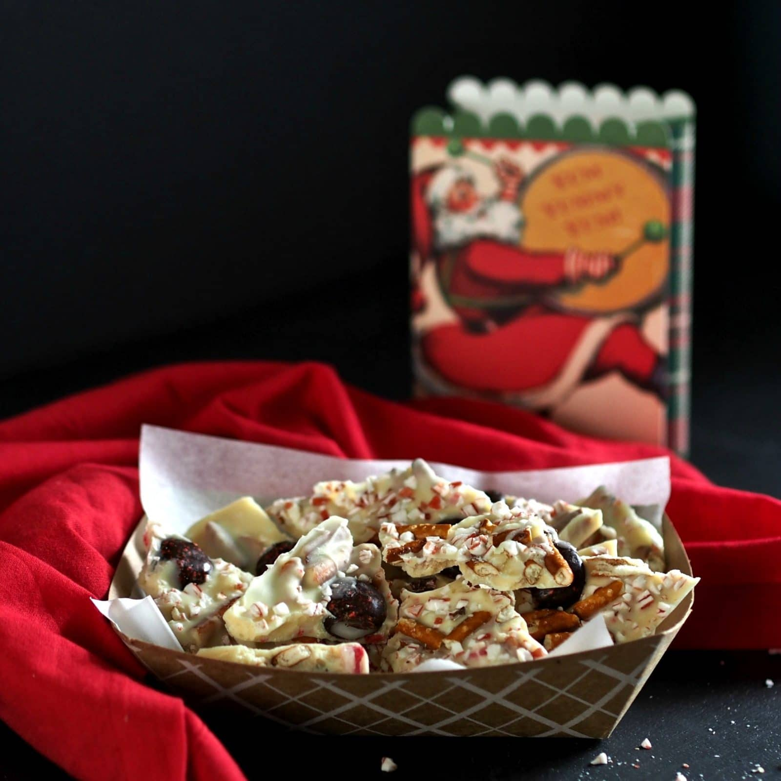 Peppermint Crunch Bark or a party in a pan. White chocolate, Peppermint Crunch candy peppermints & pretzels. Once you taste it, you'll want to celebrate. Simply Sated