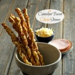 "Canadian Bacon Cheese Straws-easy to make, elegant and delicious -the first appetizer to disappear at any dinner party. A great ""bread"" with a salad. Simply Sated"