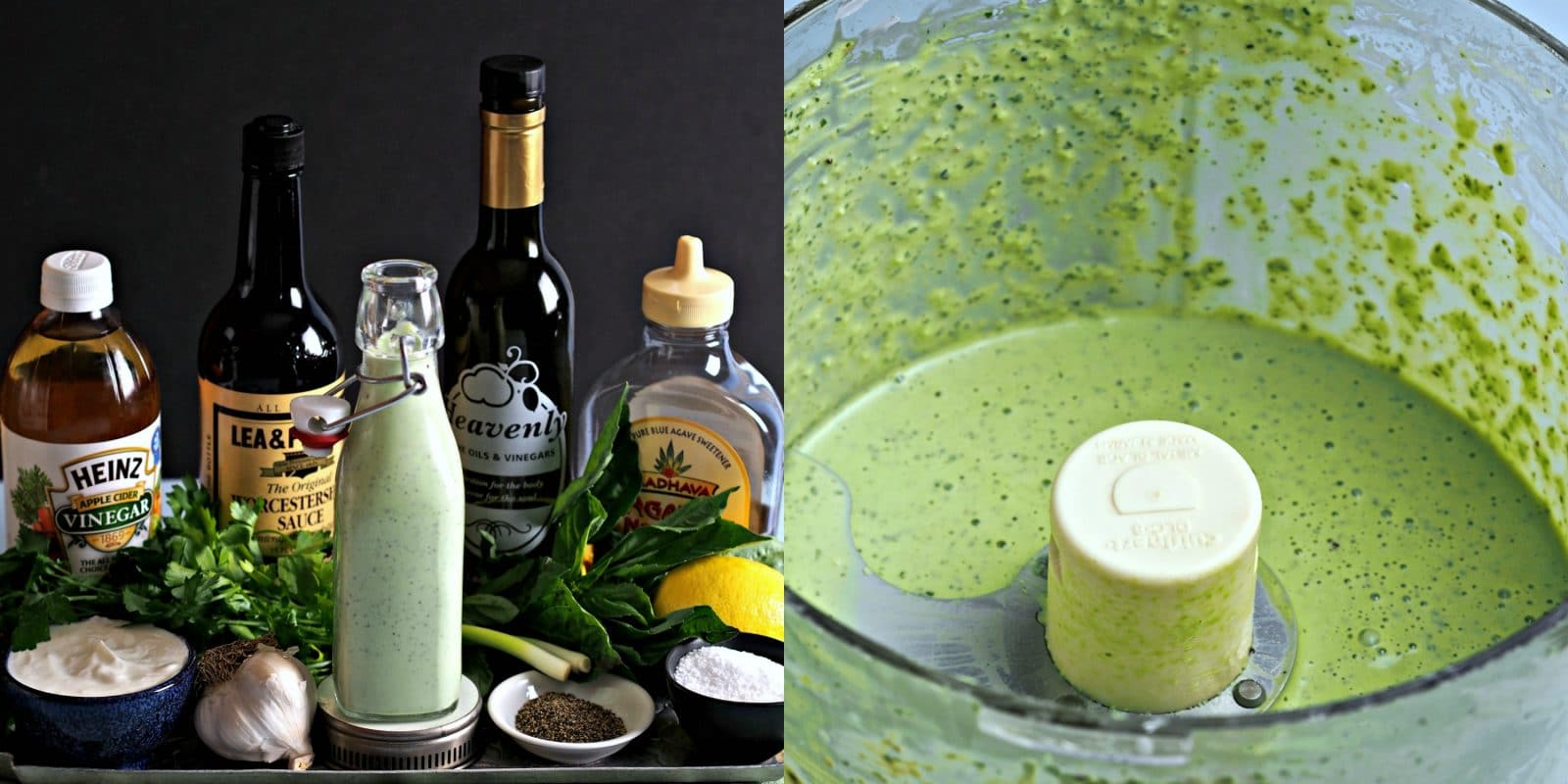 "Basil Green Goddess Dressing - a dressing fit for Gods & Goddesses. Basil, parsley & yogurt all ""dressed"" up with lemon, cloves, green onion & seasonings. simply sated"