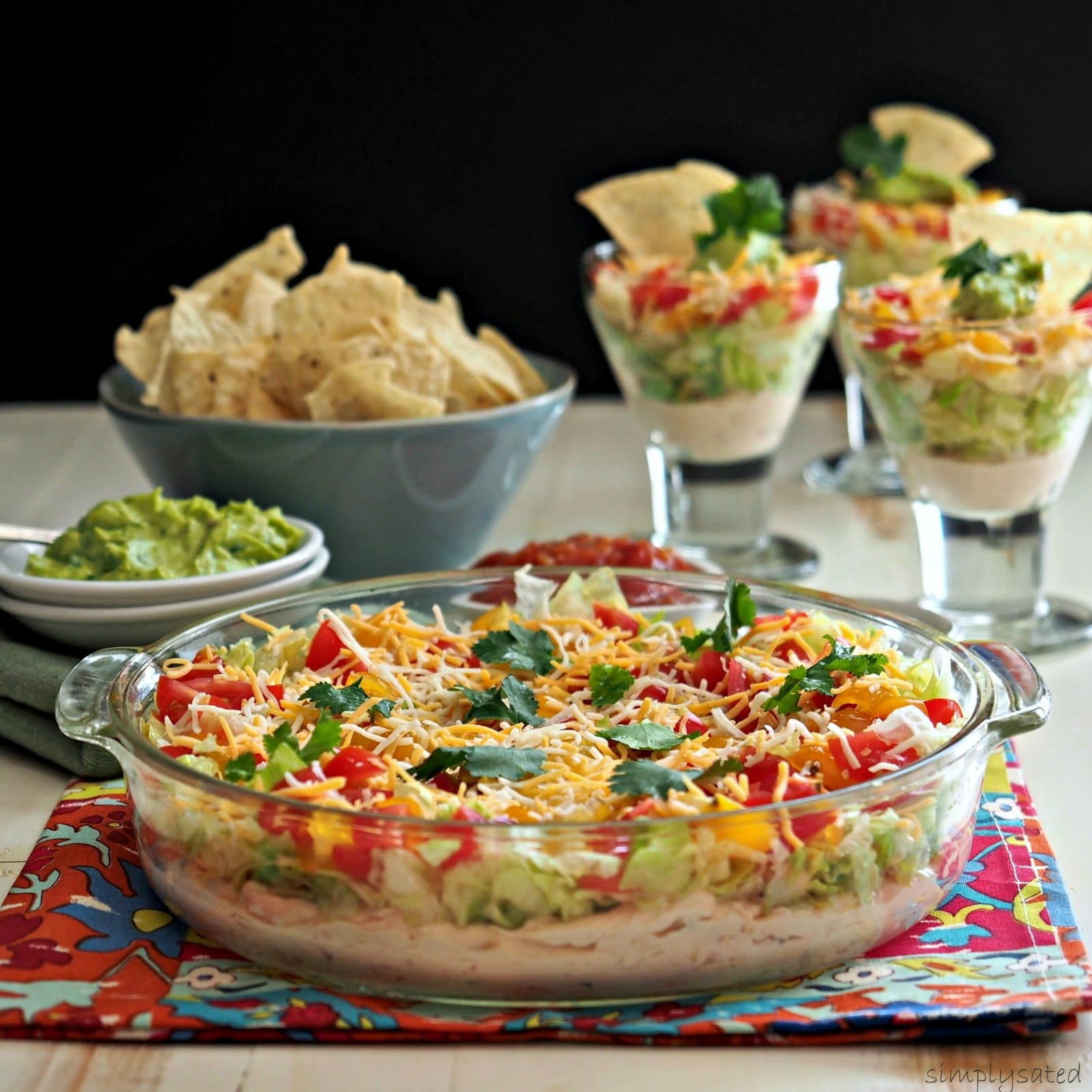 Layered Mexican Dip - Simply Sated