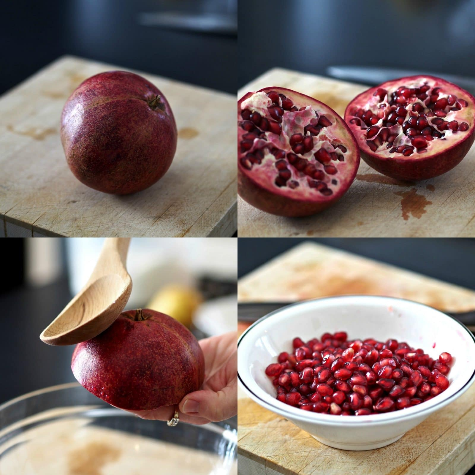 Pomegranate Pear Upside-Down Cake - versatile, delicious cake to make with most seasonal fruits & served with or without ice cream. The star of the show. Simply Sated