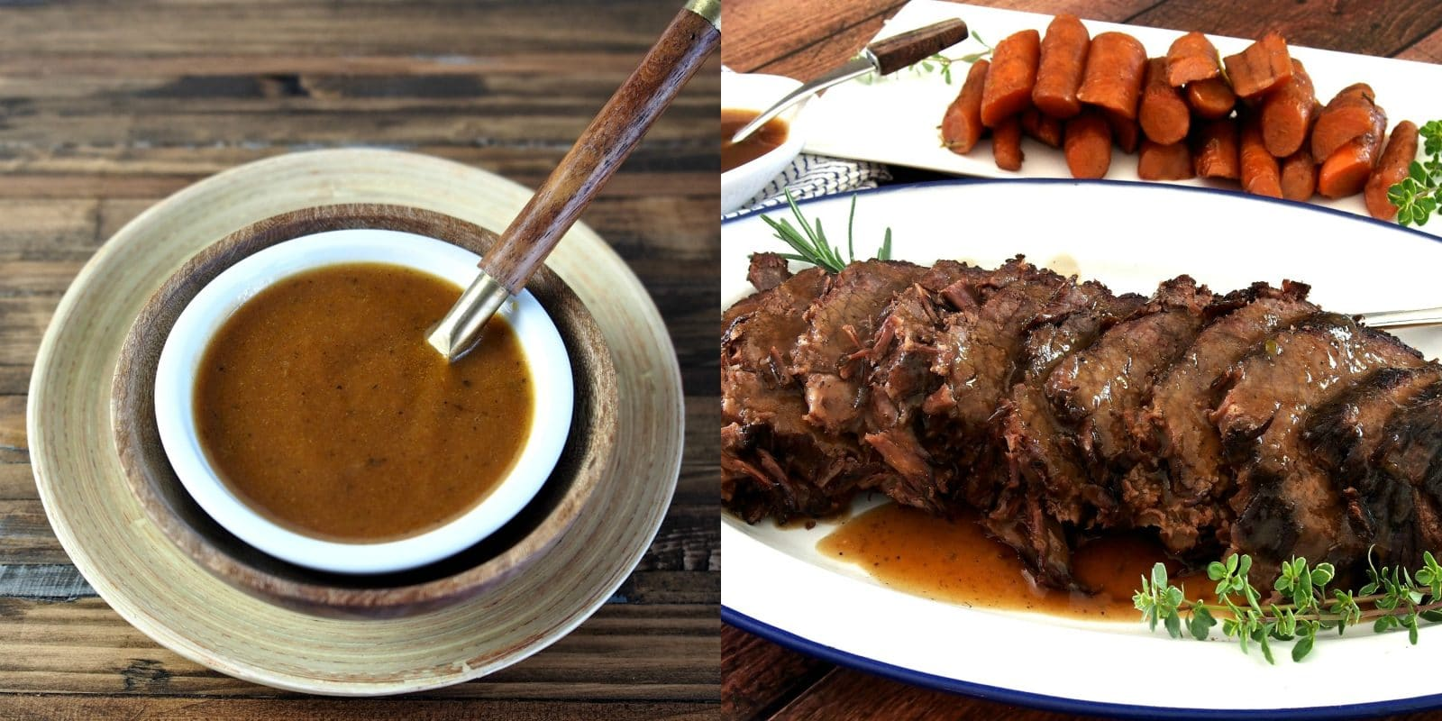 Perfect pot roast with pot roast gravy simply sated for Best gravy for lamb