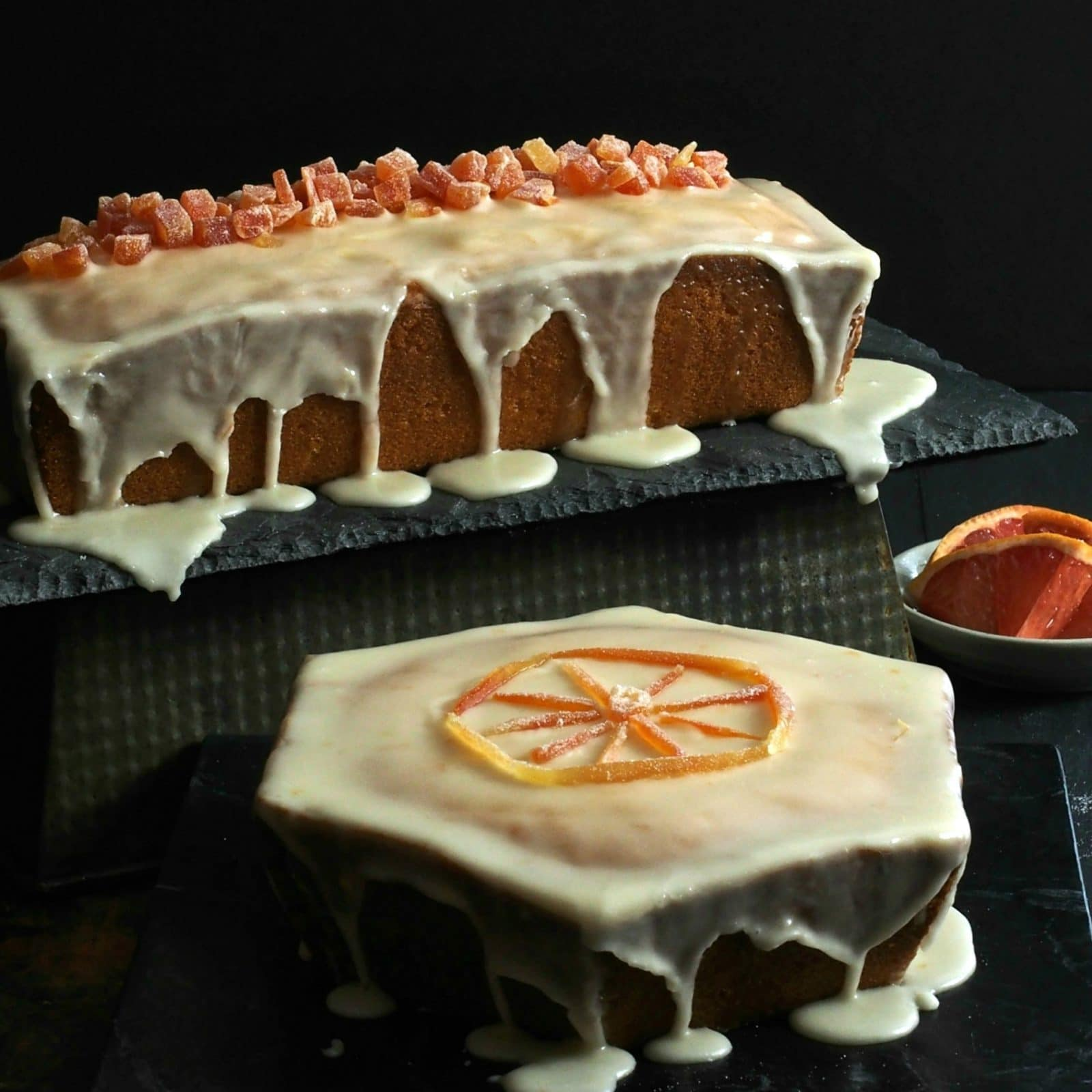 Grapefruit Pound Cake with Grapefruit Glaze - citrusy & sweet with a tender crumb. The perfect dessert for any occasion and will become a family favorite. Simply Sated