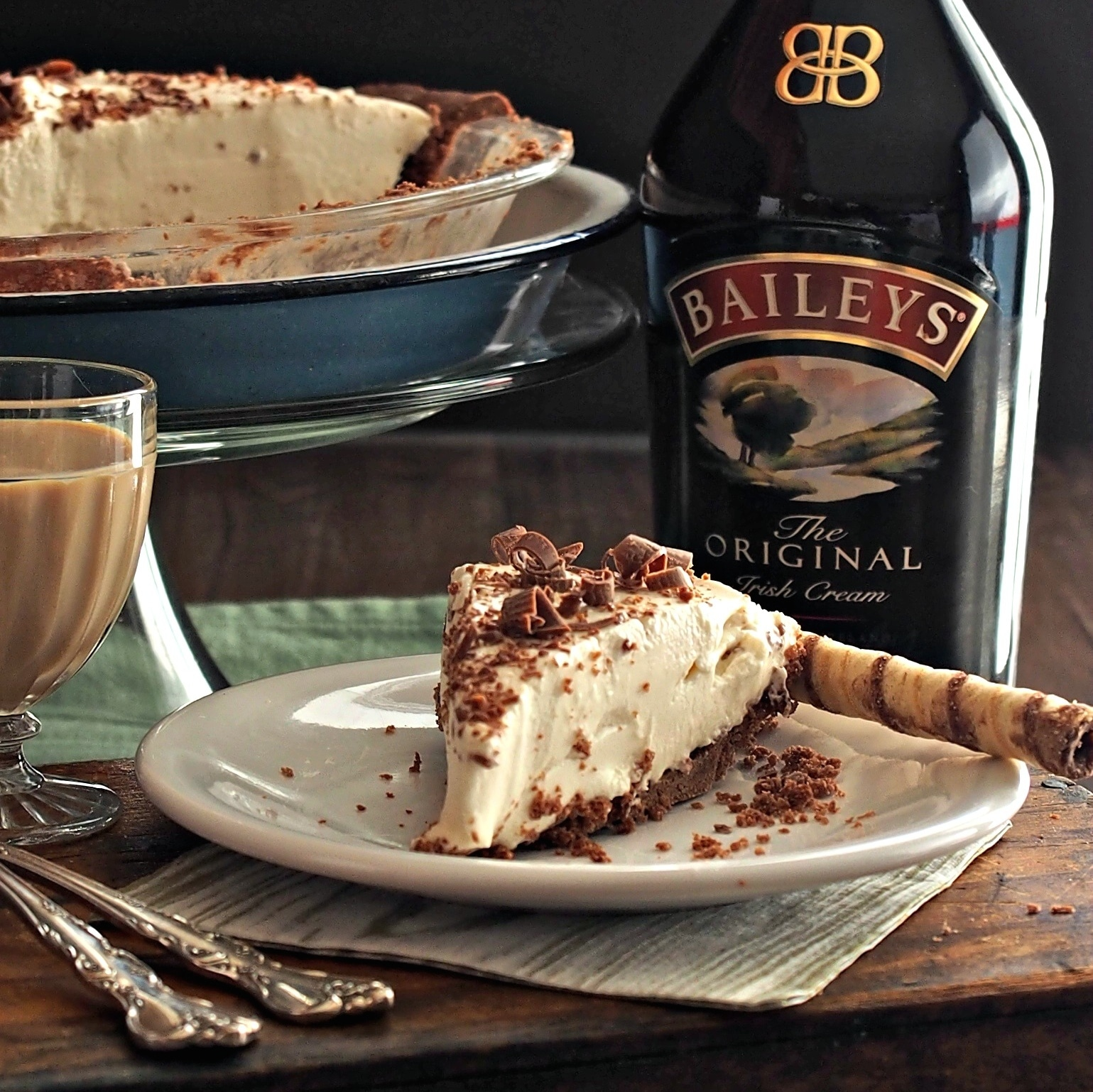 Irish Cream Pie. Even if your eyes aren't Irish, they will be smiling ...