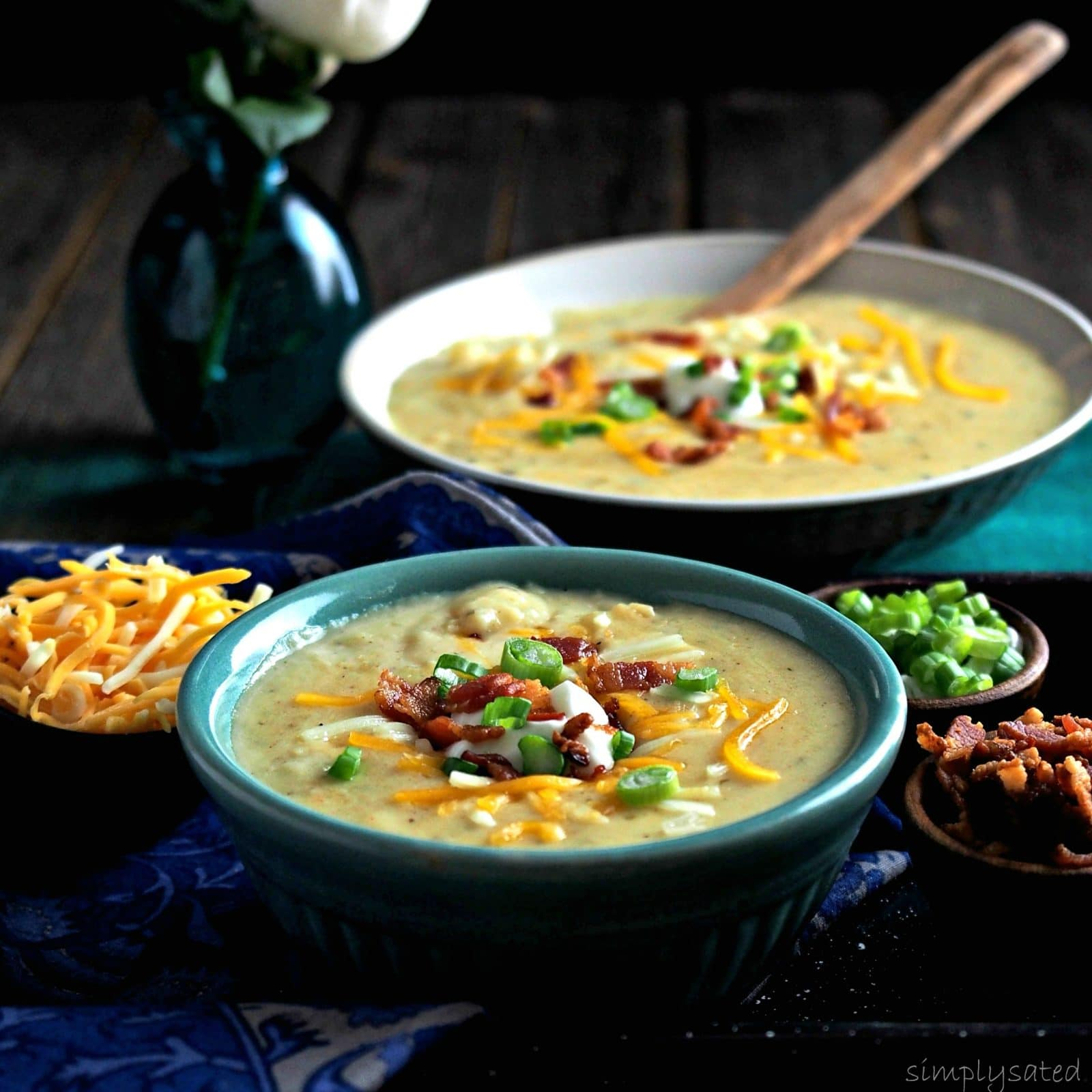Three-Cheese Baked Potato Soup