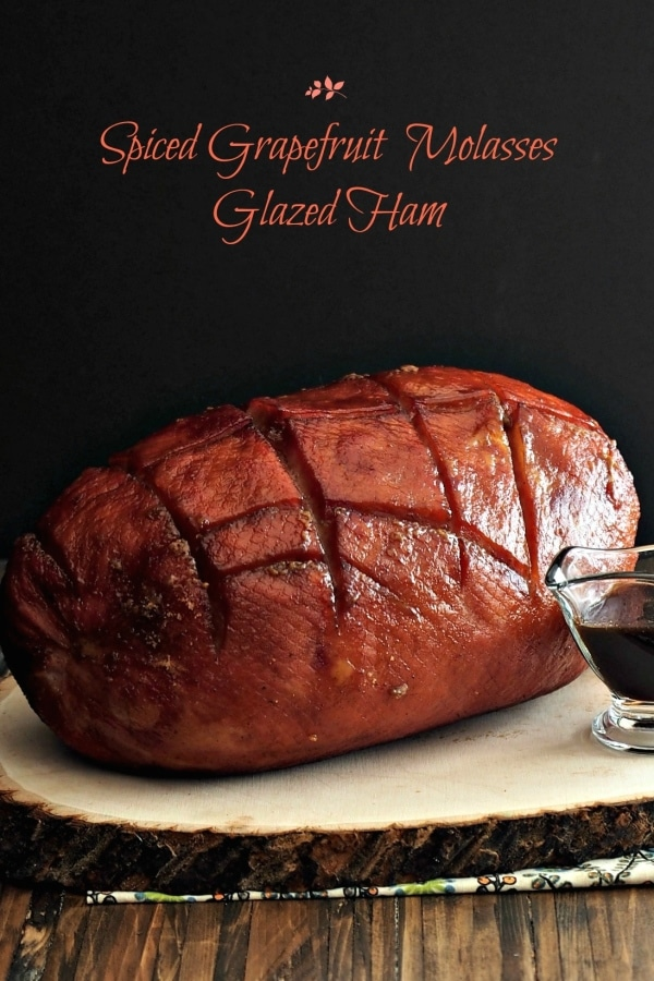Spiced Grapefruit Molasses Glazed Ham - Jones Dairy Farm Family Ham, grapefruit juice, brown sugar, molasses and the perfect blend of spices. Perfection. Simply Sated