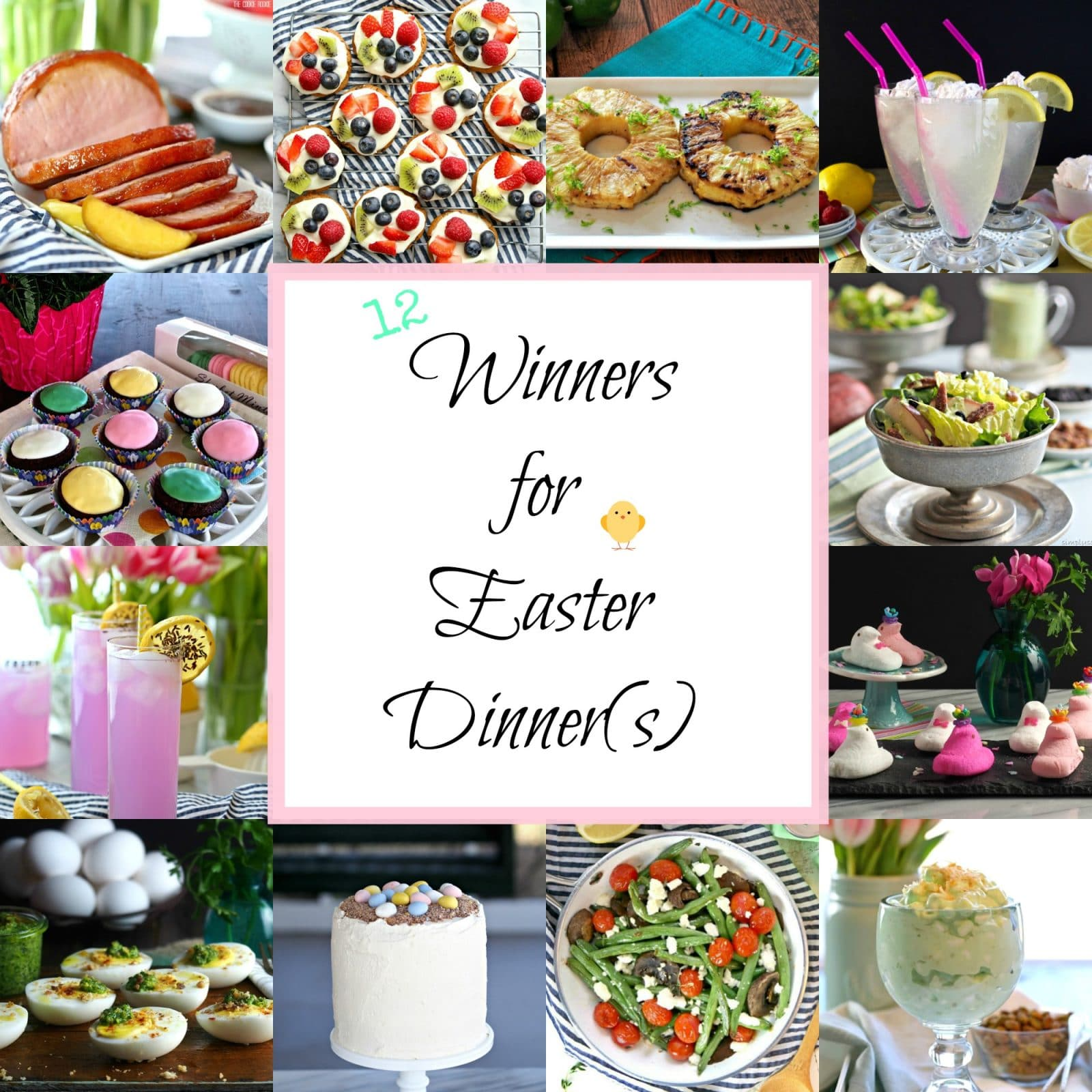 12 Winners for Easter Dinner(s). Twelve winning recipes from drinks to desserts to make Easter dinner the best ever - from Simply Sated & The Cookie Rookie