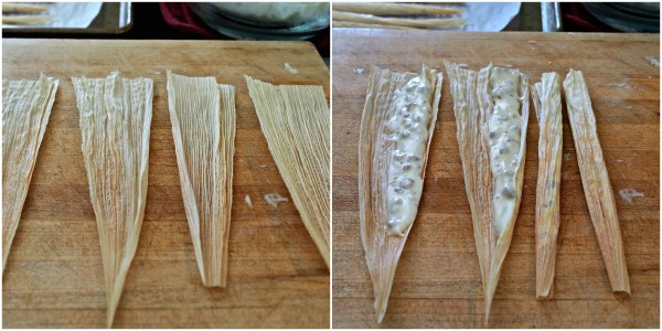 White Chocolate Tamales with Honey Roasted Pecans. These tasty treats are fun to make & delicious to eat - the perfect sweet ending to any meal. Simply Sated