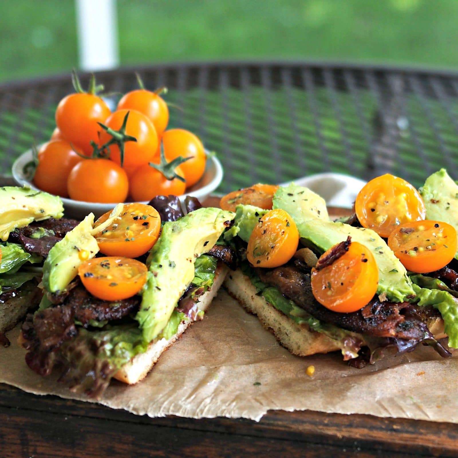 Perfect BLT with Sweet Spicy Bacon & Avocado. Yes, THE perfect BLT with sweet, spicy bacon and avocados. After one bite, you will think you are in Heaven. Simply Sated