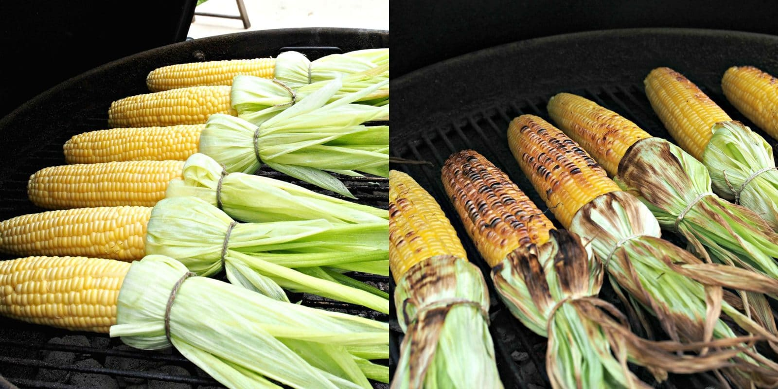 Grilled Corn - smoky, sweet and fresh, this corn-on-the-cob has all the flavors great corn should. Serve as-is or brush with your favorite condiment. Simply Sated