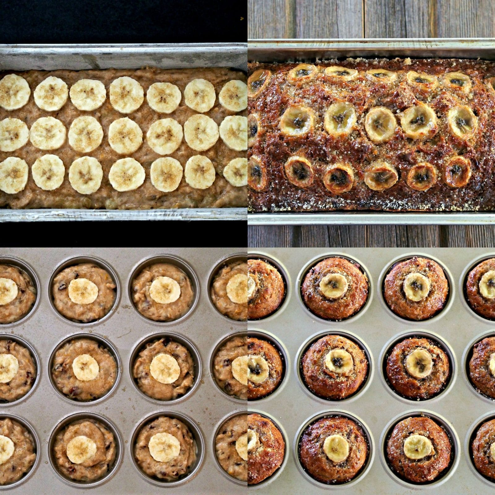 Orange Spice Banana Bread & Muffins. The BEST Banana Bread-ever! Moist & flavorful with toasted pecans, orange zest, cinnamon, nutmeg & caramelized bananas. Simply Sated