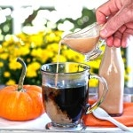 Homemade Coffee Creamer-less expensive, healthier & tastier than store-bought coffee creamer. Add favorite spices and flavorings to make your own creation. Simply Sated