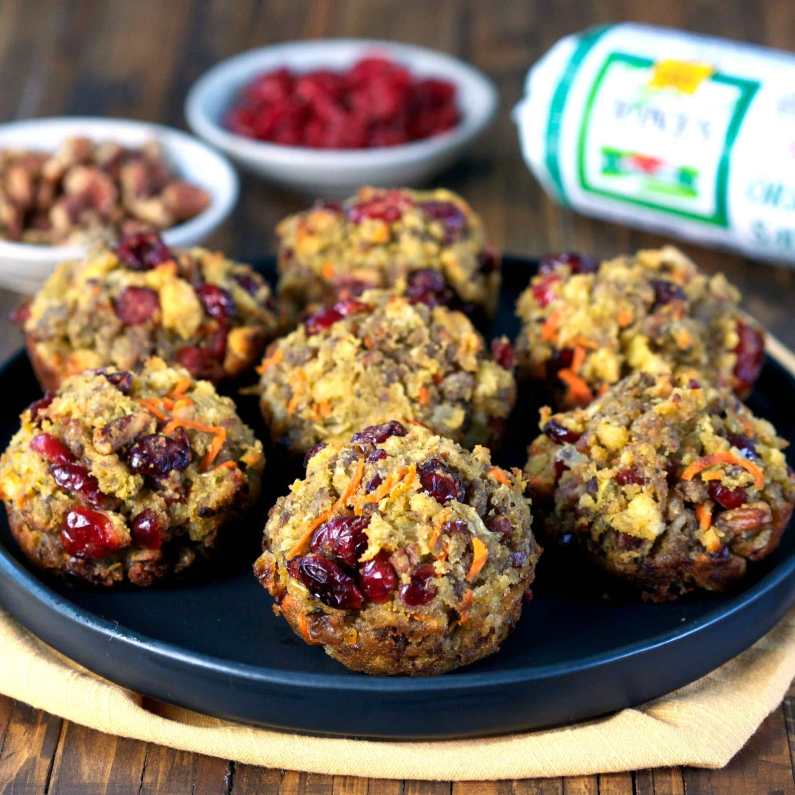 Cranberry and Cornbread Stuffing Muffins - Simply Sated