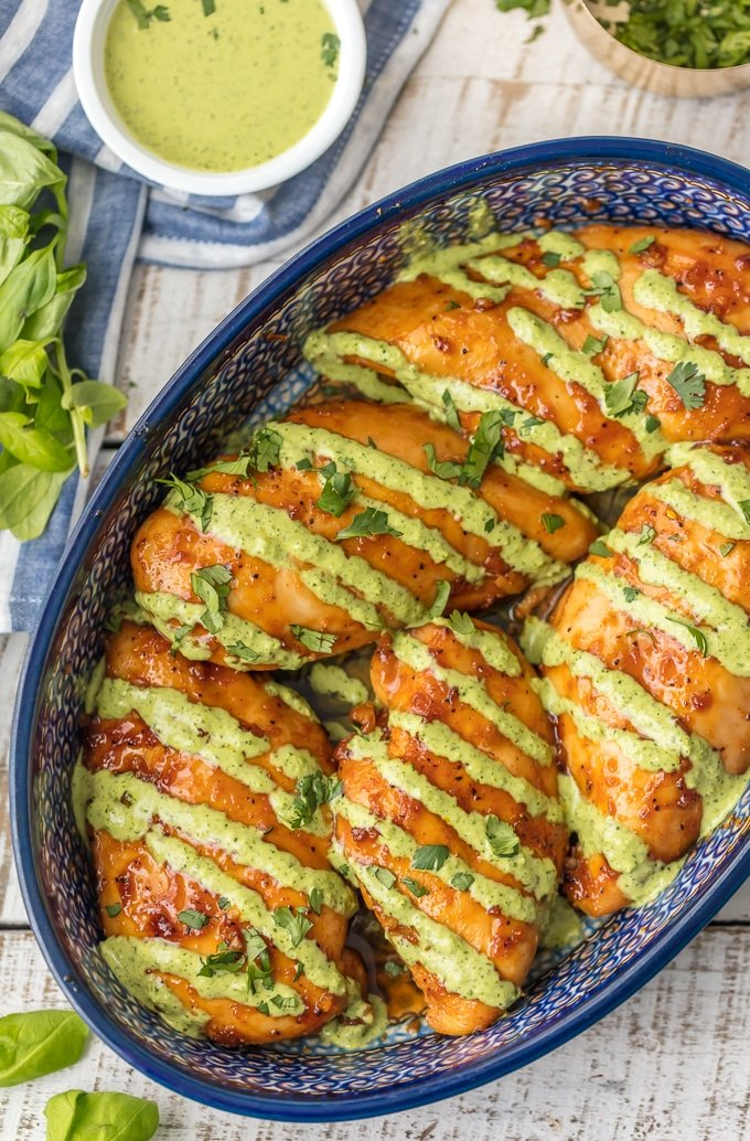 Peruvian Chicken w/Green Sauce-a vibrant example of Peruvian cuisine-a flavor-packed fusion born of many cultures. Amazingly spiced & gorgeous. Perfection. Simply Sated
