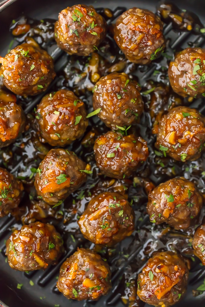 Kids and adults, alike, will love this updated version of Marmalade Meatballs. They are perfect whether served as an appetizer or nestled over a mound of buttery polenta or creamy mashed potatoes. Plus, they are just as delicious made with ground pork, chicken or turkey. Easy, satisfying and fun. Simply Sated